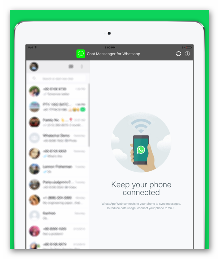 Messenger для WhatsApp - iPad Chat Version